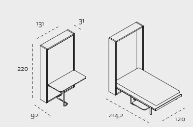 telemaco dimensions wallbed